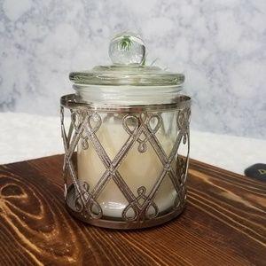 Bath & Body Works~Silver Glitter Holder & Candle